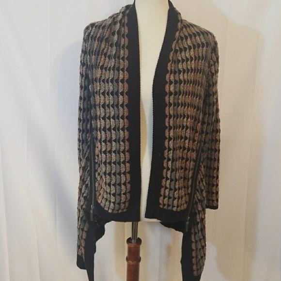 Niczoe Sweaters Nic Zoe Open Front Cardigan With Zip Detail Xs